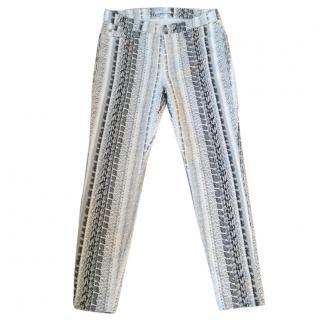 7 for all mankind python print skinny stretchy jeans