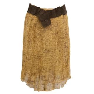 Philosophy Di Alberta Ferretti Yellow Pattern Tribal Skirt