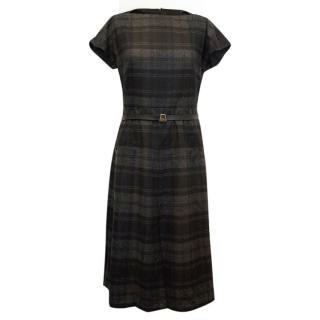Akris Grey Checked Dress