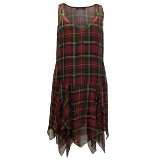 Ralph Lauren Polo Two Piece Checked Dress