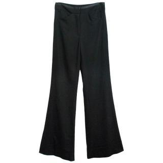 Halston Heritage black wide leg trousers