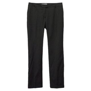 Paul & Joe black wool bootleg trousers
