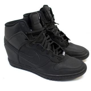 Nike ID Black Wedge High-Tops