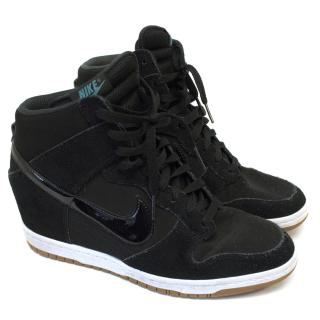 Nike Black Wedge Suede Trainer Boots