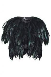 Top Shop Unique iridescent black feather jacket