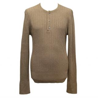 Tom Ford Brown Ribbed Light Weight Jumper