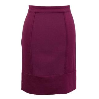 Preen by Thornton Bregazzi Magenta Mini Skirt