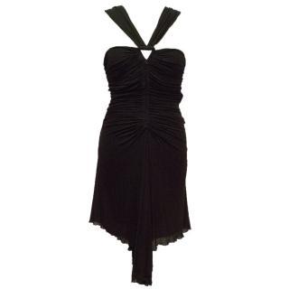Roberto Cavalli Ruched Dress With Halter Neck