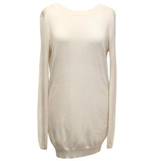 Jasmine Di Milo Backless Cream Jumper