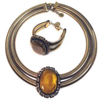 Carolina Herrera Necklace & Bracelet set