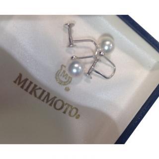 Mikimoto White Gold 18K  / 750 Akoya Earrings