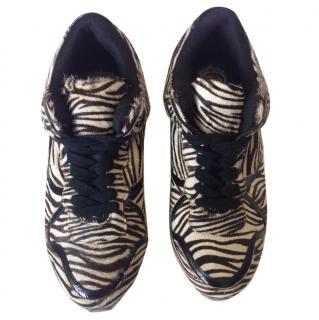 Jeffrey Campbell zebra printed sneakers