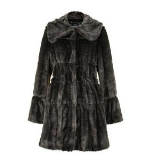 Armani Jeans Faux Fur Charcoal Winter Coat
