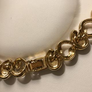 Nina Ricci Gold Vintage Collar
