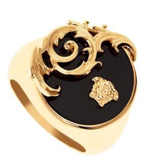 Versace Men's Ornate Resin Ring