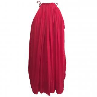 Isabel Marant red satin dress