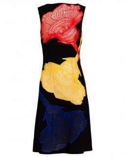 Christopher Kane crepe/lace insert dress