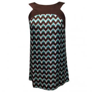 Milly Silk Shift Mini Dress