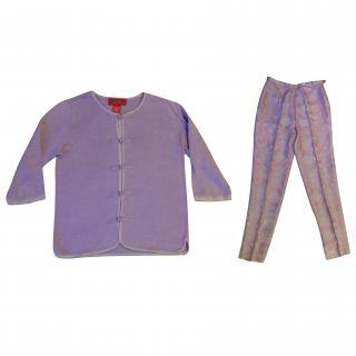 Shanghai Tang cardigan-trouser set