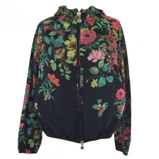 Moncler floral rain jacket