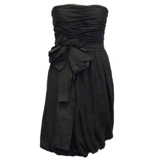 Chloe Black Ruched Dress