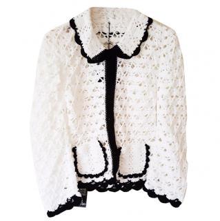 Sister by Sibling knit hand crochet fan jacket