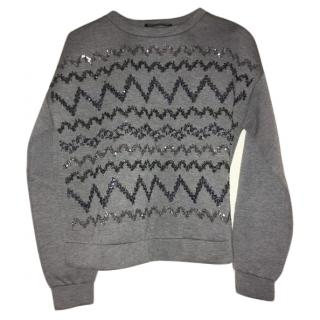 Max Mara Weekend Grey Glitter Sweater