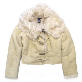 Ralph Lauren Girl's Fur Lined Suade Coat