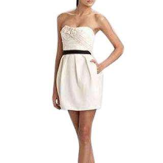 BCBG Max Azria strapless rosette dress