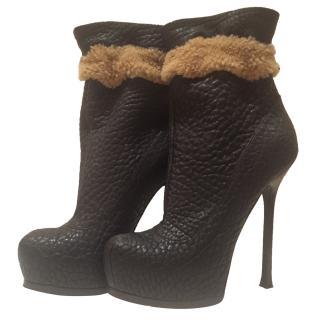 Saint Laurent Brown booties