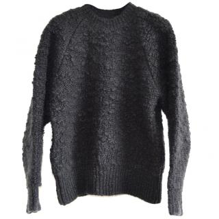 MM6 Maison Margiela charcoal wool-boucl� jumper