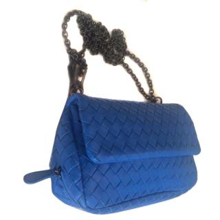 Bottega Veneta blue cross-body bag
