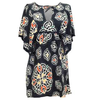 Juicy Couture Navy Print Knit Dress
