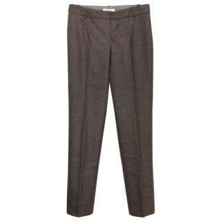 Chloe wool potato skin straight leg trousers