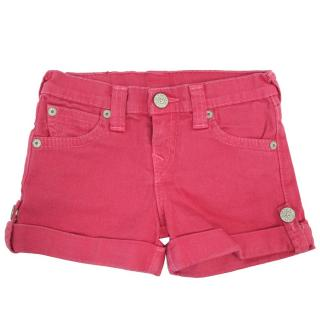 True Religion Hot Pink Denim Shorts