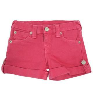True Religion Hot Pink Denim Shorts