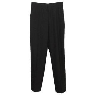 Yves Saint Laurent Black Straight Leg Trousers