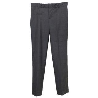 Chloe grey straight leg trousers