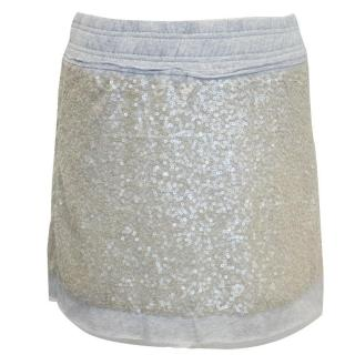 Juicy Couture Grey Sequin Mini Skirt