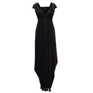 Donna Karan Black Plunge Gown