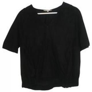 Maje black suede top