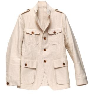 Tom Ford  Cotton Faille Patch Pockets Safari Jacket