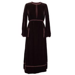 Marc Jacobs Burgundy Velvet Dress