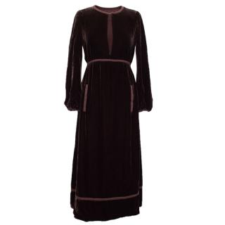 Marc Jacobs Burgundy Velvet Dress
