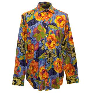 Etro Multi Coloured Mens Flower Print Shirt