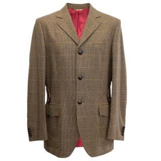 Dolce and Gabbana Mens Brown Tweed Jacket