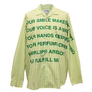 Comme des Garcons Junya Watanabe Check Shirt with Wording