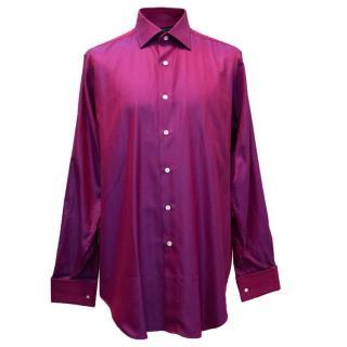 Richard James Mens Pink Metallic Shirt