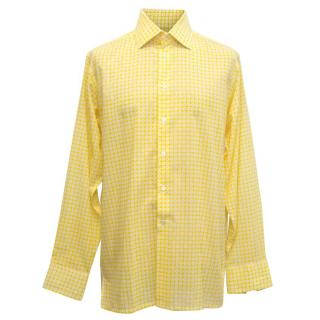 Richard James Yellow Dress Shirt with White Pattern