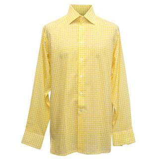 Richard James Yellow Dress Shirt with White Pattern